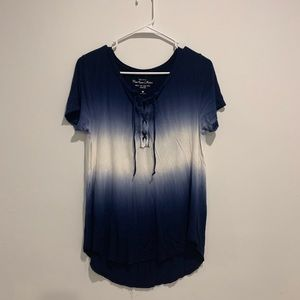 Hollister blue and white shirt